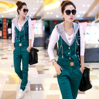 Twinset SEMIR 2013 autumn women's casual jumpsuit bib pants trousers female fashion