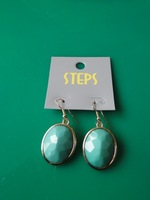 New Fashion green imitation stones Drop Earrings Women Party Earring big exaggerated