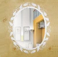 Fashion iron mirror bathroom box dressing mirror dressing picture frame white