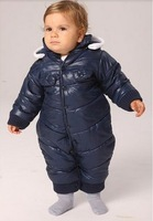 2012 Baby's Winter Clothes, One Piece Jumpsit, New Arrival Thickening One-piece Romper With Hat, Free Shipping