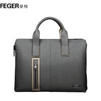 Commercial one shoulder cross-body document laptop bag man bag cowhide male bag casual handbag