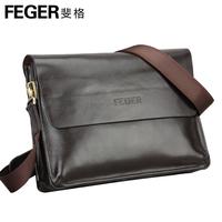 Feger shoulder bag male casual cross-body leather bag backpack bag commercial man bag