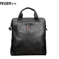 Feger male handbag shoulder bag messenger bag leather bag briefcase male commercial bags