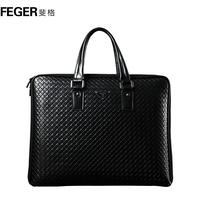 Man bag male bag handbag leather commercial briefcase fashion knitted bag backpack bag