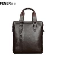 Feger man bag male vertical commercial handbag briefcase messenger bag casual backpack bag