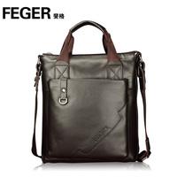 Man bag male vertical commercial cowhide handbag briefcase messenger bag backpack bag