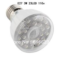 E27 3W 23LED 110v Light Sensor Motion Detector Lamp infrared sensor lamp