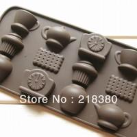 teapot alarm clock shape silicone cake mould chocolate silicone mould baking tools