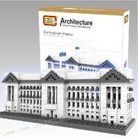 Free shipping Building blocks 150 3d three-dimensional  assembling child plastic Buckingham Palace Educational Toys