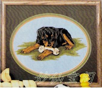 free shipping unfinished DIY cross stitch kit animal Rottweiler Dog ZA-G430(China (Mainland))