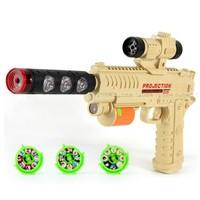 Electric light music projection gun toy gun flash vocalization light emitting electric toy gun 32 cartoon