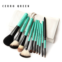 Big 3.6 cosmetic brush set cerro qreen natural animal wool 10 set