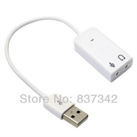 1Pcs/lot USB External Virtual 7.1 Channel Audio 3D Sound Card Adapter With Cable line