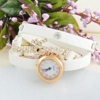 Hot Sale! New Fashion Hawaiian Casual Watches Supply High Quality Rhinestone Leather Quartz Watch