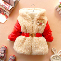 2013 autumn and winter baby outerwear female child thickening wadded jacket baby clothes children's clothing cotton-padded