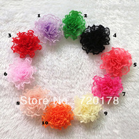 "Free Shipping,100pcs/lot,Mini 2"" Lace Flowers Multi Layers Girls Flowers flower  baby headbands accesories 10Colors ,TYF19"