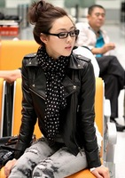 NEW women  high quality dress faux leather jacket  cheap dresses winter skirts women 2013 free shopping