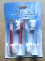 P-HX-6044 Neutral Package Electric toothbrush head  4 soft bristles/1 sets,1000sets/4000pcs,free shipping