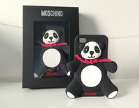 3D stereo cartoon  Cute Panda silicone cover cases for iPhone 5 5G and 4 4s ,with retail package and Logo, Free Shipping