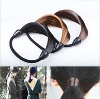 New Synthetic Fiber hairpeice Ponytail Elastic Hair Rope Hair bands hair rings free shipping