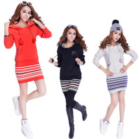 Free shipping!2013 Winter women' s Hoodies Fleece Thicken Sweater Fashion Leisure Suit