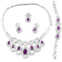 purple stone african  jewelry sets for party   new design african alloy jewelry sets for women free shipping by dhl