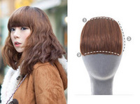 Real hair fake fringe natural qi bangs wig piece invisible seamless real hair fringe