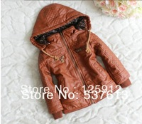 free shipping boys leather jackets children clothing zipper kids clothes thicken baby coats fashiin child outwears jackets coats