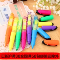 Stationery Highlighters Office and School Use 6pcs/lot Mixed Color