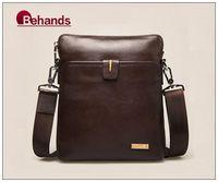 2014 Bag Fashion Genuine Leather Handbags Men Shoulder Bags Business Purses Briefcase BH1272+Free Shipping