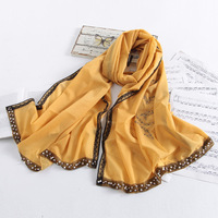 Rgxzr autumn and winter women's pearl lace silk scarf quality sparkling diamond long design cape scarf dual