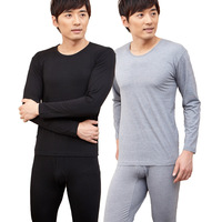 Thermal set male thin o-neck plus size plus size modal bamboo charcoal fiber long johns long johns underwear