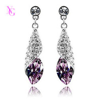 Free Shipping New Beautiful Geometry Crystal Long Drop Earring Fashion For Women