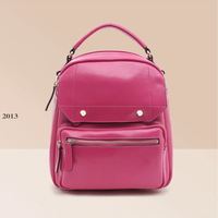 Autumn genuine leather cowhide portable school bag backpack preppy style high quality women's handbag