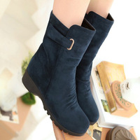 2013 new women's autumn and winter shoes flat boot wedges martin boots single boots casual snow boots free shipping