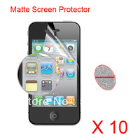 10pcs/lots Anti glare Anti-Glare Matte Screen Protective For iPhone 4 4G 4S , No Retail Package free clean Cloth