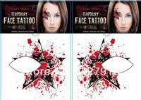 20pcs/lot Halloween makeup Eyeliner makeup paste stickers stage eye shadow stick face pasted spirit