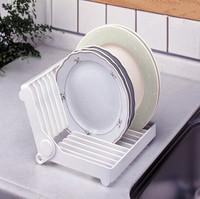 Kitchen supplies cutlery storage folding tableware drain rack drip bowl rack dish shelf