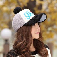 Princess rabbit hat female winter plush line cap thermal baseball cap fashion cap