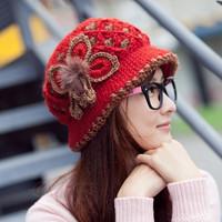 Basin hat female woolen bucket hat yarn knitted hat women's autumn and winter