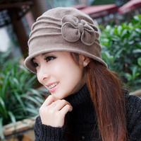 Fashion wool basin hat female autumn and winter bucket hat winter yarn woolen wool knitted hat