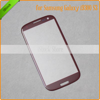 Free Shipping High Quality S3 LCD Screen Touch Panel Front Glass Lens for Red Samsung i9300 Outer Glass +Free Tools