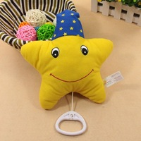 Baby musical toy rattles rowse bed bell hanging cloth toys music rope bt1551