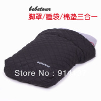 Bebetour stroller baby sleeping bag baby car foot cover car umbrella socks three-in function
