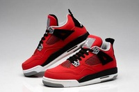 Fire Red Women Suede Toro Bravo 4s 2013 For Cheap