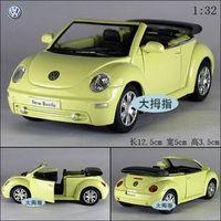 Volkswagen cabrio beetle soft world sports car WARRIOR toy car alloy car mold