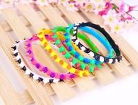 Conical color rubber bracelet personality sports bracelet candy color ring hand wrist belt bracelet adorn article