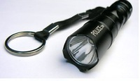 Mini LED Torch CREE  LED Flashlight  Lamp Mountaineering expedition police waterproof  free shipping wholesale