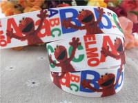 "2013 new arrival  7/8"" (22mm) Sesame Street printed grosgrain ribbon cartoon hair bows ribbon hair accessories 10 yards tape"