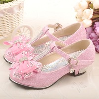 Female child high-heeled single shoes 2013 child single shoes high-heeled shoes princess shoes female high-heeled leather child